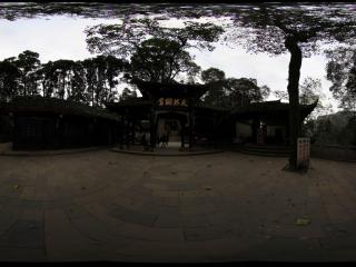 青城山 天然图画庙宇的清晨