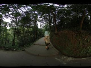 青城山 天然图画上去小路上-背负重货的工人