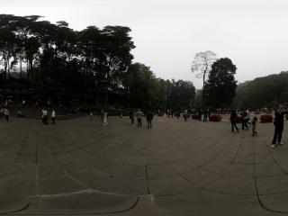 青城山 山门前的广场