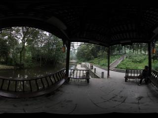 青城山 道教学院后面的水池
