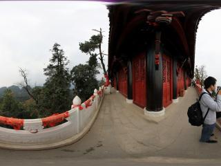 青城山 老君阁上的观光走廊
