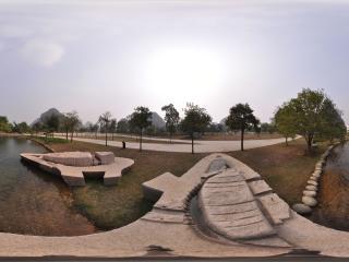 桂林愚自乐园 日湖