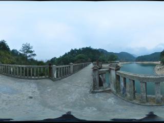 湖南 衡山 华严湖全景