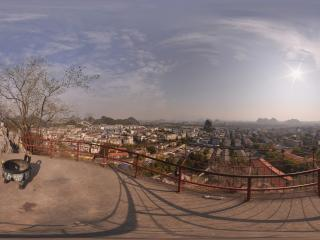 桂林靖江王城 独秀峰山顶望桂林市