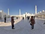 阿联酋 阿布扎比 谢赫扎伊德清真寺全景