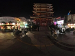湖南常德市 步行街夜景全景