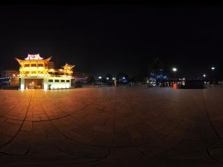 公园夜景全景