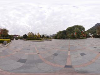 桂林 芦笛岩公园 民俗文化园广场