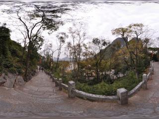 桂林 芦笛岩公园 景区山道