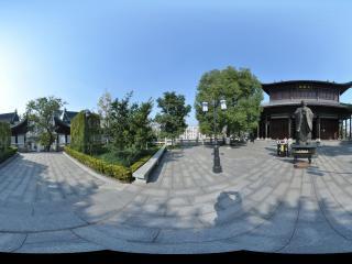 湖南衡阳 石鼓书院 大观楼前孔子像