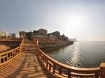 岳阳市沿湖风光带全景