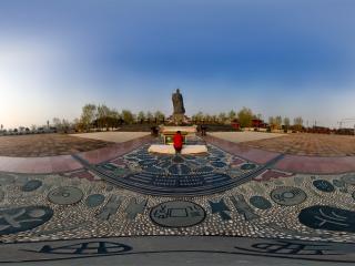 河南商丘商文化广场全景
