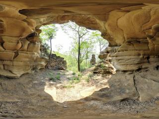山西省永和镇 于家嘴砂岩溶洞