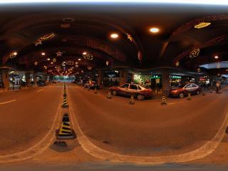 深圳海岸城大桥夜景全景