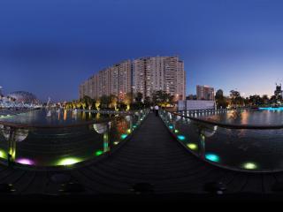 深圳海岸城水边夜景