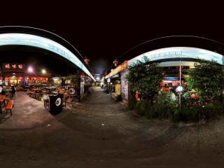 夜晚的深圳香蜜湖的蠔味馆