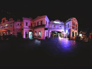 夜晚的深圳香蜜湖
