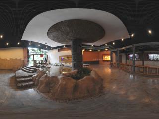 深圳海上田园生态文明馆内部长廊展览