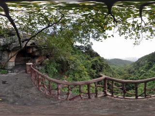 广州白云山凭栏远眺