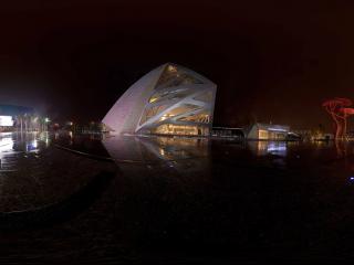 梦幻般的雨中喷泉深圳欢乐海岸璀璨之夜2全景
