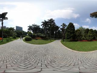 广州珠江公园石板道