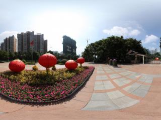 广州珠江公园花坛