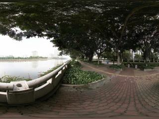广州二沙岛江边街景