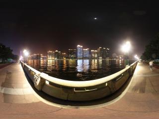 广州珠江边的夜景