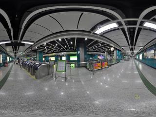 广州汉溪长隆地铁站刷卡机全景