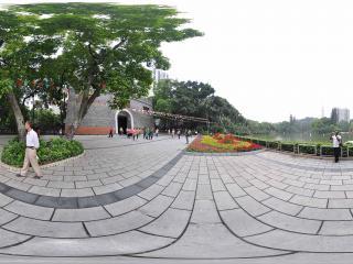 广州博物馆门前景色