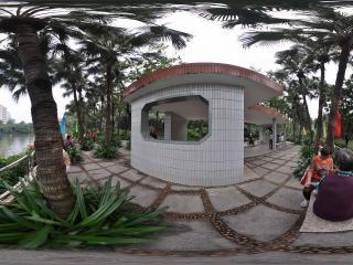 广州博物馆水边凉亭