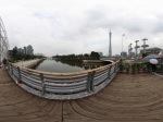 广州海心沙亚运主题公园小桥全景