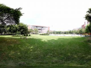 广州暨南大学教学楼前的草坪