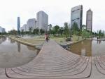 广州中轴线水面全景