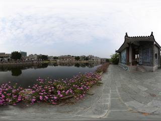 广州岭南印象园提线木偶门前