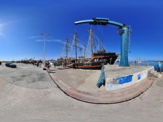 突尼斯杰尔巴港口全景