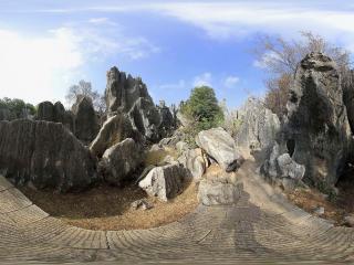 云南石林风景区4全景