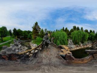 三国雕塑园全景