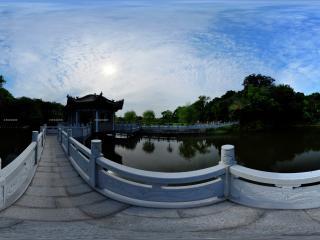 三国雕塑园玄武亭全景
