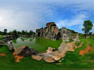 三国雕塑园周瑜战赤壁