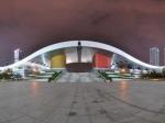 深圳市民中心夜景全景