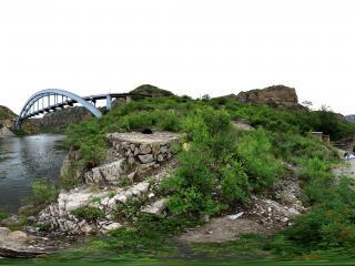 北京门头沟—珍珠湖拱桥全景
