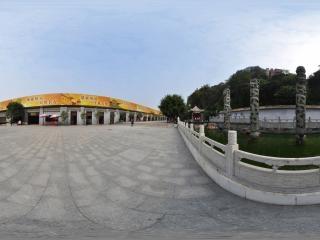 广州梧州龙母庙全景