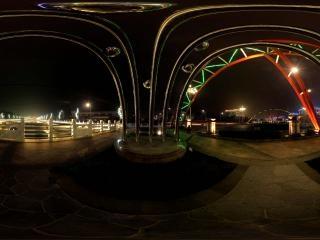 北京门头沟—河滩沟夜景全景