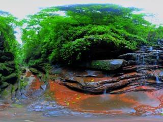 贵州—赤水甘沟瀑布全景