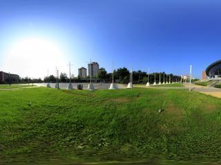 北京—北京工业大学体育馆外景全景