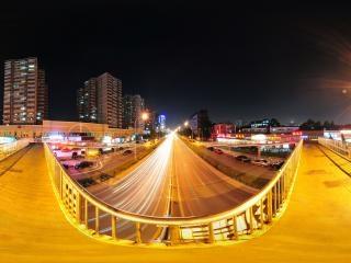 北京—街边天桥全景
