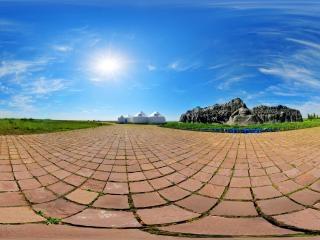 内蒙古—锡林郭勒忽必烈雕塑全景