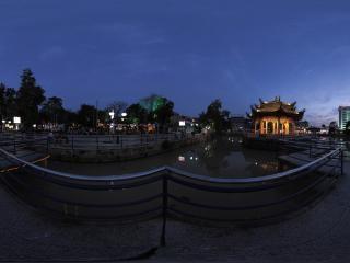 福建—泉州天后宫夜景全景