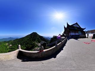 安徽—九华山天台佛殿全景